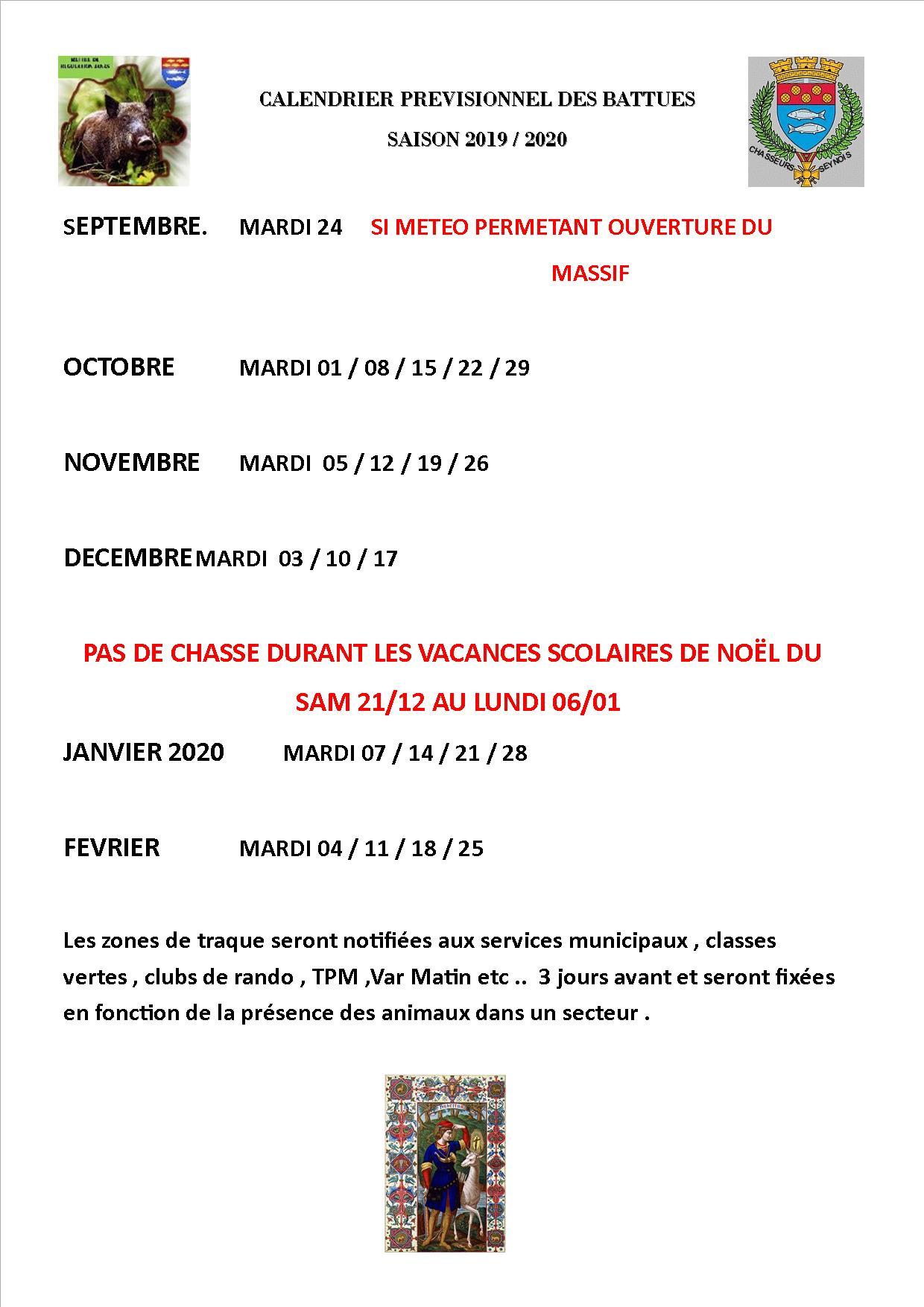 Les Feux De Lamour Calendrier Previsionnel 2019.Les Battues L Union Des Chasseurs Seynois